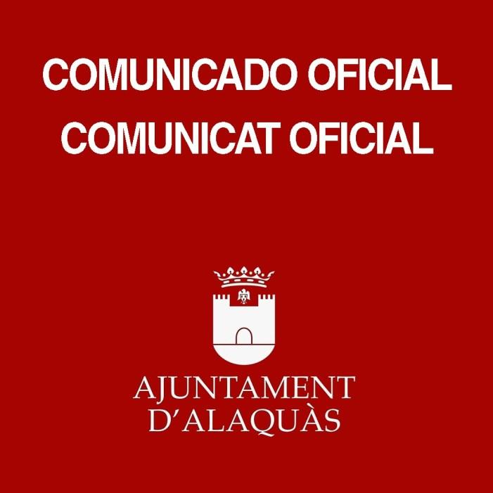 L'Ajuntament d'Alaquàs i els Clavaris del Carme acorden per unanimitat la suspensió de les Festes 2020