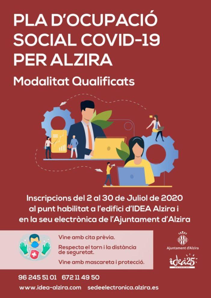 Alzira destina 250.000 € a un Pla d'Ocupació Social per a qualificats