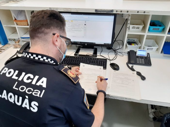 Alaquàs imposa 83 multes en la primera setmana amb mascareta obligatòria
