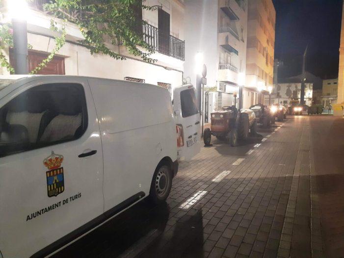 Turís reactiva la desinfecció del nucli urbà amb atomitzadors contra el coronavirus
