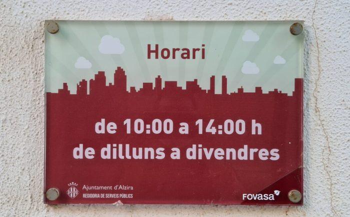 La Regidoria de Serveis Urbans i FOVASA d'Alzira obrin una oficina d'atenció ciutadana