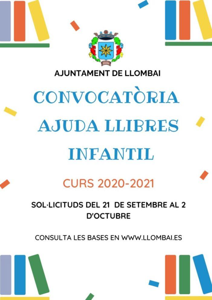 Últims dies per optar a les ajudes per als llibres d'Infantil del curs 2020-2021 de Llombai