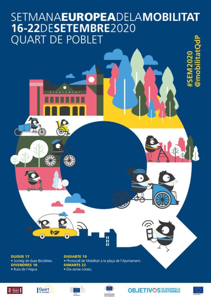 Quart de Poblet celebra la Setmana Europea de la Mobilitat 2020 conscienciant sobre els beneficis del transport sostenible