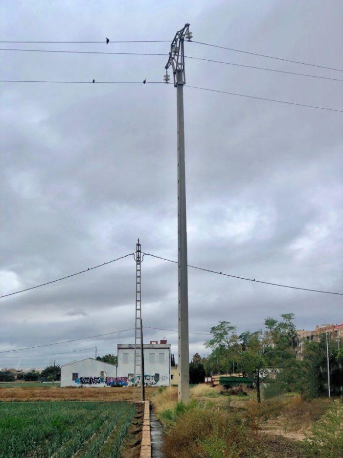 L'Ajuntament d'Alboraia ajuda a millorar els protocols d'ubicació de les torres elèctriques en les zones d'horta