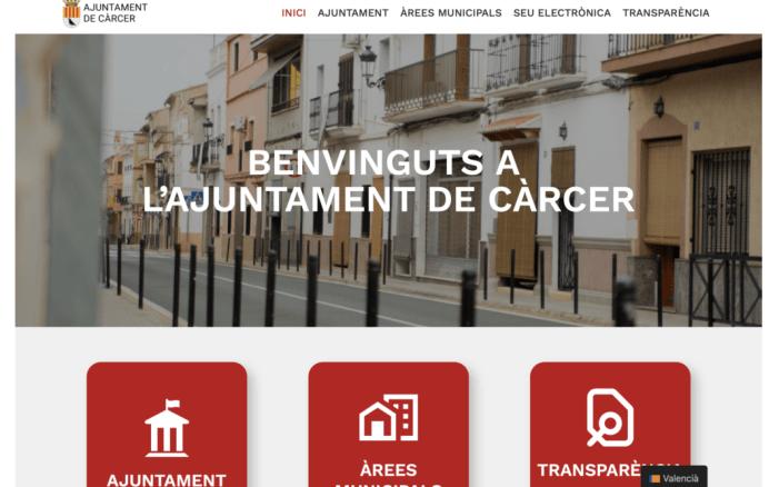 Càrcer estrena nova web municipal per a potenciar la transparència