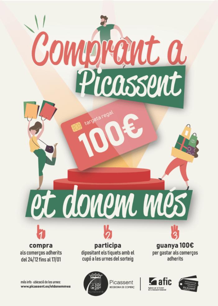 L'Ajuntament de Picassent posa en marxa la Campanya «Et donem més» per al foment del comerç localitat