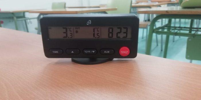 CSIF exigeix a Marzà reforçar la calefacció de les aules amb estufes i bombes de calor i instal·lar purificadors HEPA