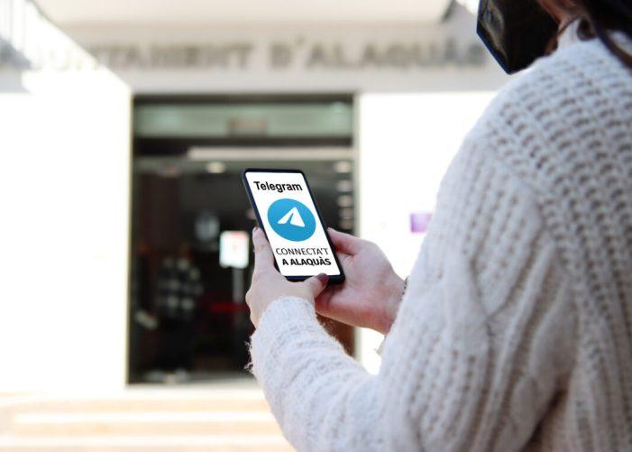 L'Ajuntament d'Alaquàs se suma a telegram per a oferir un nou canal de comunicació directa amb la ciutadania