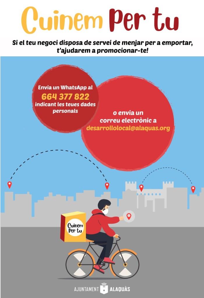 """L'Ajuntament d'Alaquàs ha posat en marxa la campanya """"Cuinem per tu"""""""
