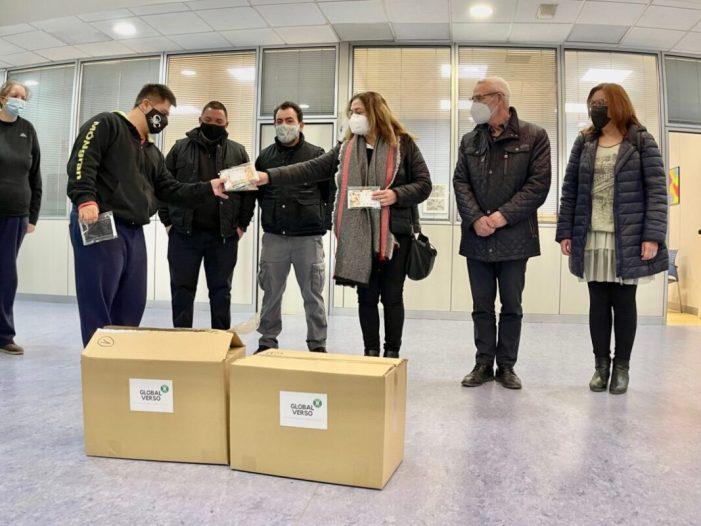 La distribuïdora farmacèutica Global Verso dona material sanitari per al taller d'integració Món Gran a Alboraia