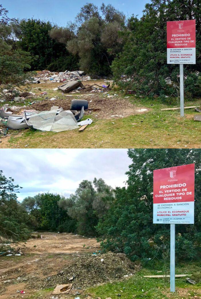 Activistes mediambientals netegen l'abocador il·legal dels Moles davant la passivitat de l'ajuntament  de Paterna
