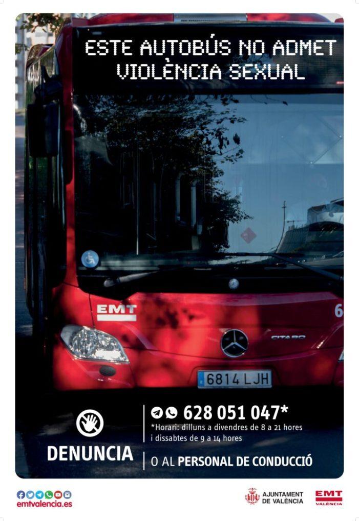Es posa en marxa un protocol d'actuació en casos de violència sexual en els autobusos de l'EMT a València