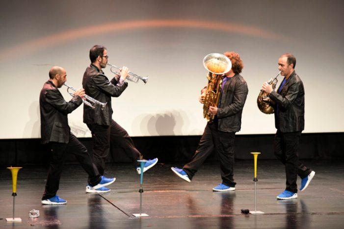 Concert pedagògic amb Spanish Brass per a l'alumnat de l'IES La Sénia a Paiporta