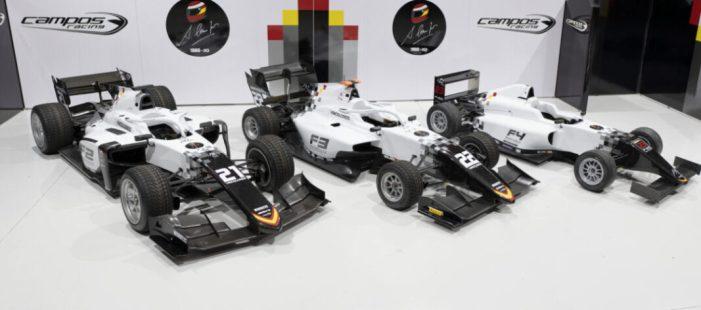 L'escuderia alzirenya Campos Racing revela la renovada imatge dels seus monoplaces per a 2021