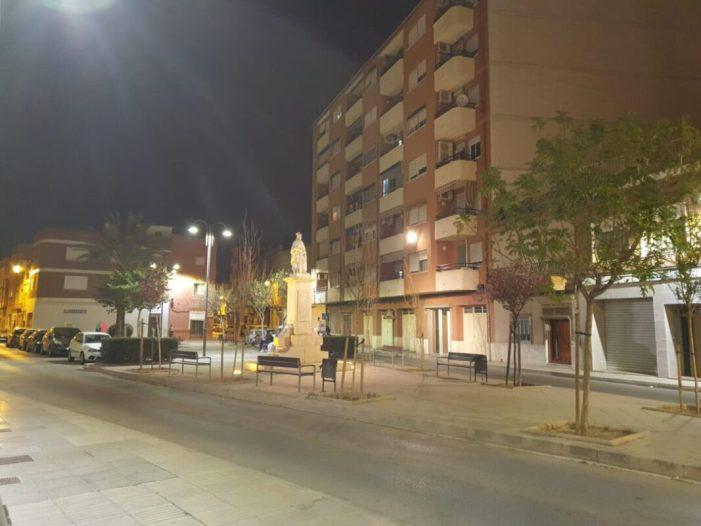 Cent vint-i-huit fanals de la barriada de Sant Judes d'Alzira ja compten amb el sistema d'il·luminació Led