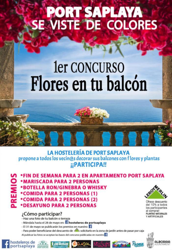 """""""Port Saplaya es vist de colors"""", un concurs per a omplir de flors el veïnat"""