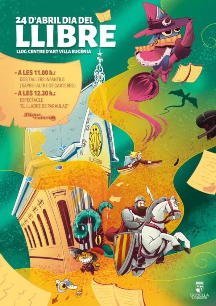 Godella celebra el Dia del Llibre amb tallers i un espectacle per a les xiquetes i xiquets