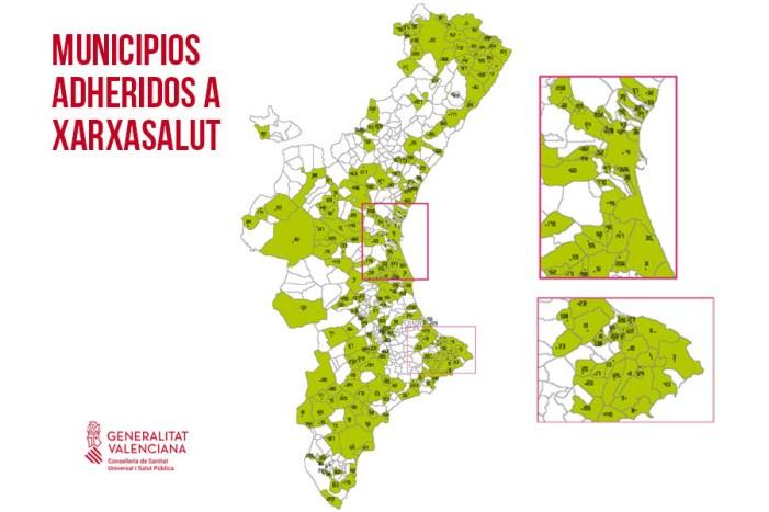 Un total de 232 municipis valencians formen part de la xarxa XarxaSalut per a promocionar la salut a nivell local