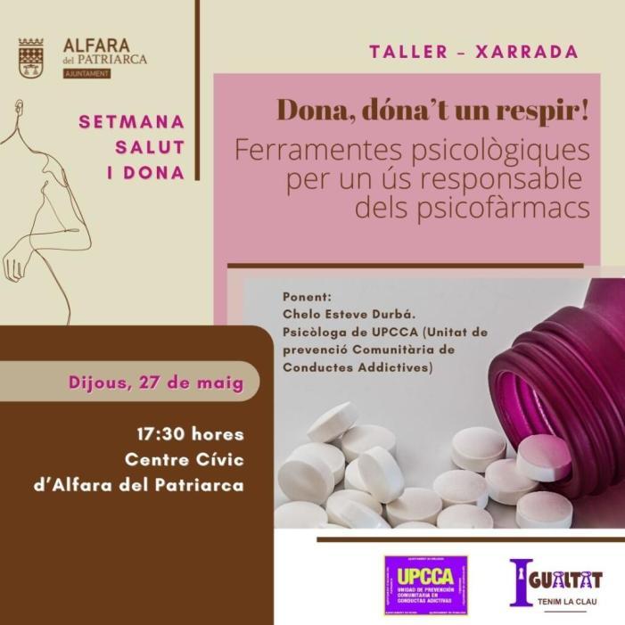 Alfara del Patriarca celebra la Setmana Salut i Dona amb activitats sobre nutrició, psicologia i exercici físic