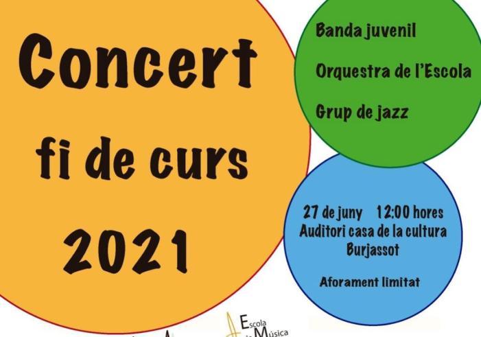 El diumenge 27 de juny tornen a sonar els concordes de l'Agrupació Musical Les Sitges a l'Auditori de Burjassot