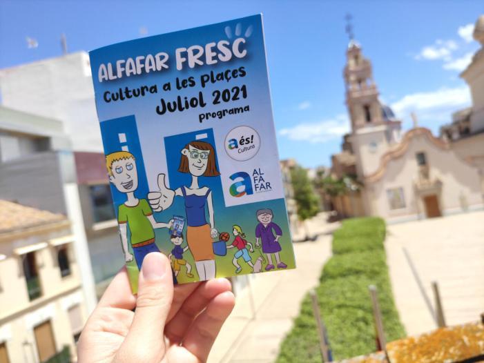 Alfafar llança la seua agenda cultural per al mes de juliol amb actes en les seues places i barris