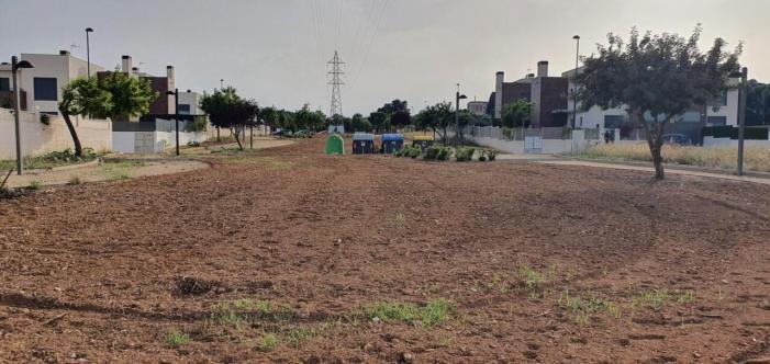 L'Ajuntament de Torrent continua amb la recuperació de les zones verdes del Vedat
