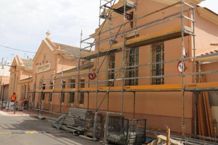 Finalitzades les obres de la façana de la Casa de la Música de l'Alcúdia