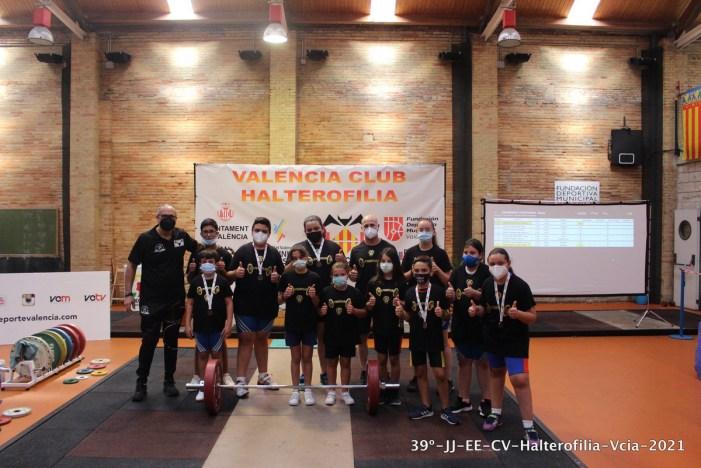 Sis medalles per al Club Halterofília Alzira en una gran actuació en la final dels 39 Jocs Esportius de la CV 2021