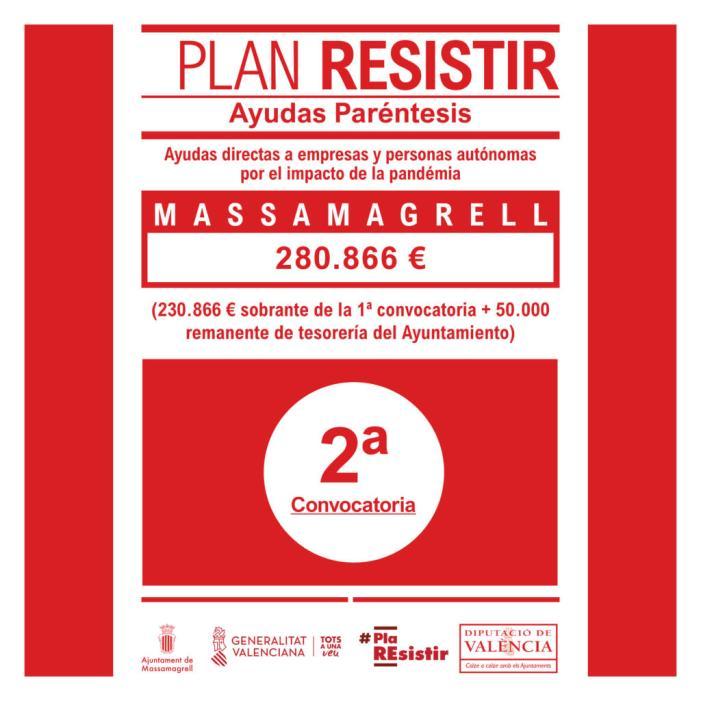 Massamagrell prepara la segona convocatòria del seu Pla Resistir