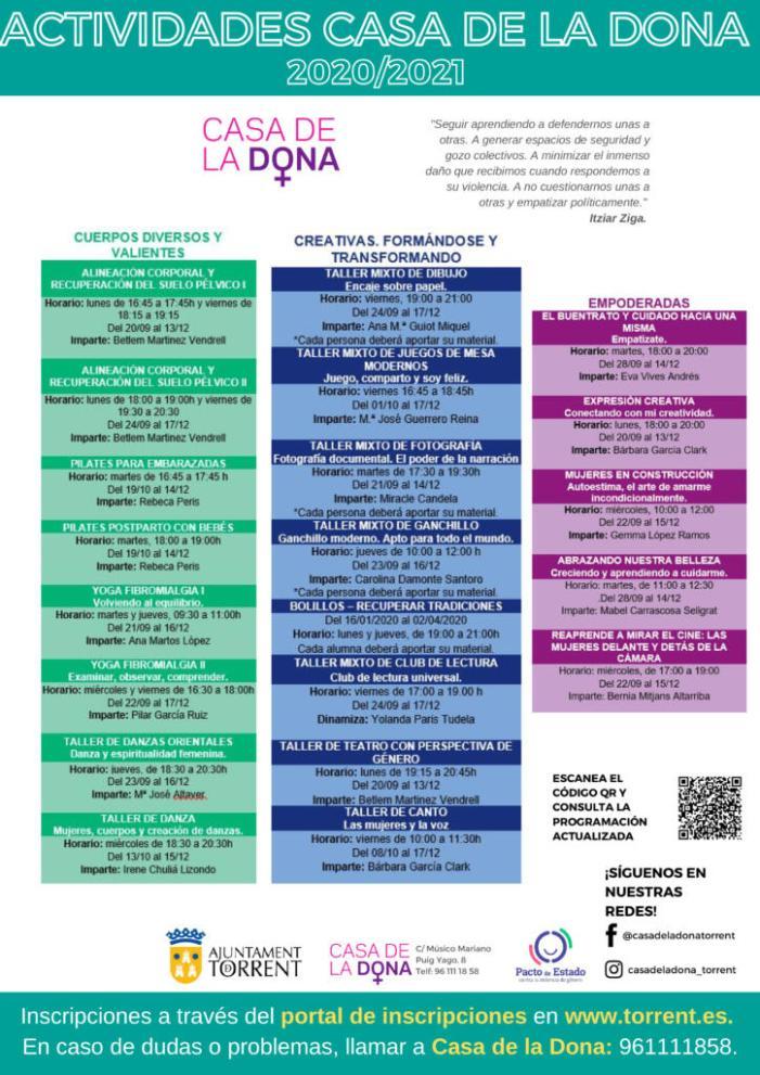 La Casa de la Dóna de Torrent presenta el programa d'activitats