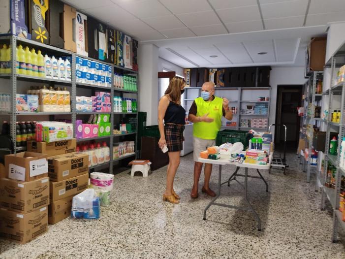 La Associació de Parcs i Polígons Ribera Baixa recol·lecta més de 1.000 quilos d'aliments per a Càritas