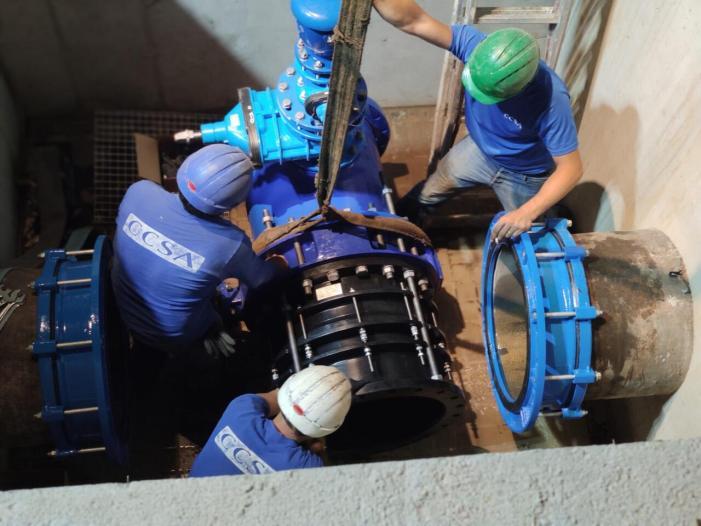 La Emshi modernitza la presa d'emergència d'aigua potable a Catarroja
