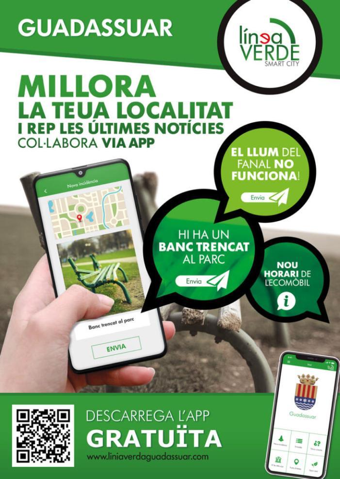 Balanç molt positiu del funcionament del servei de Línia Verda a través de l'aplicació mòbil a Guadassuar