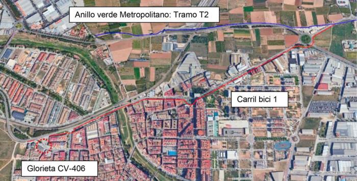 Paiporta presenta dos nous trams de carril bici de 2,8 quilòmetres per a connectar amb l'anell verd metropolità