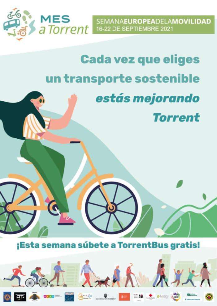 Torrent promou les pràctiques de mobilitat sostenible en la Setmana Europea de la Mobilitat
