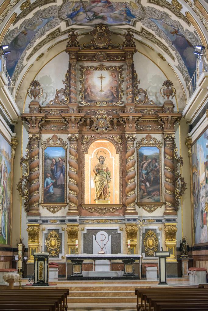 Almussafes sufraga amb 35.000 euros la restauració del retaule major de l'església parroquial Sant Bertomeu Apòstol