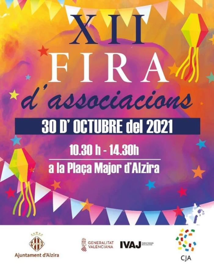 Més de trenta col·lectius faran tallers, xarrades, exhibicions, concerts i degustacions a la plaça Major en la Fira d'Associacions d'Alzira