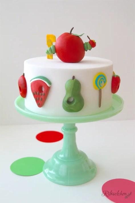 Raupe Nimmersatt Torte