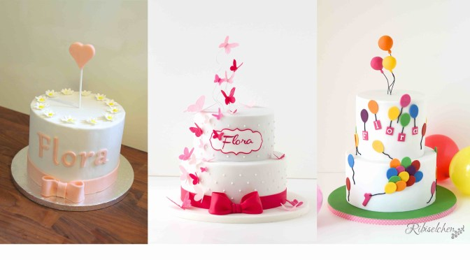 Torte x3 – Blümchentorte, Schmetterlingstorte, Luftballontorte