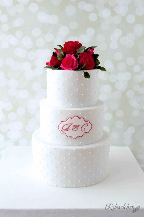 Hochzeitstorte Rosen 1