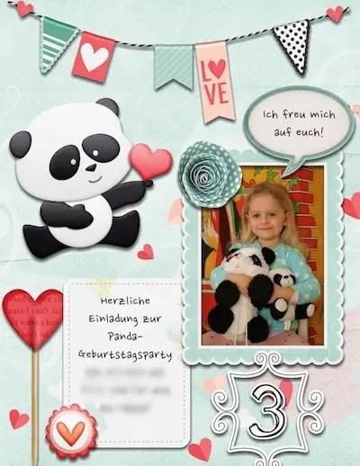 Panda Party Einladung