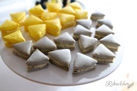 Macarons Dreiecke