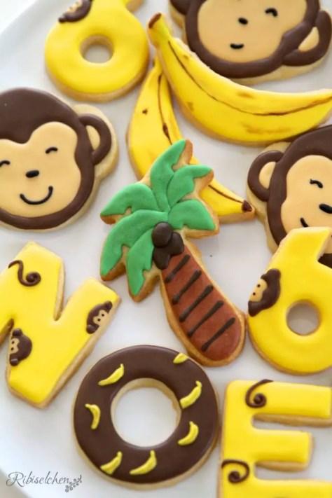 Dschungelparty Süßigkeiten Kekse