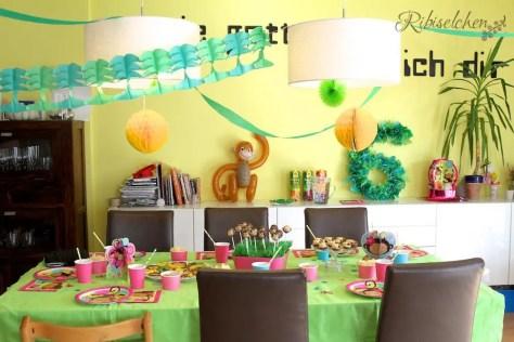 Sweet Table der Affen - Dschungelparty