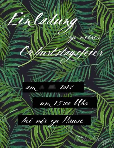 Tropische Party Einladung