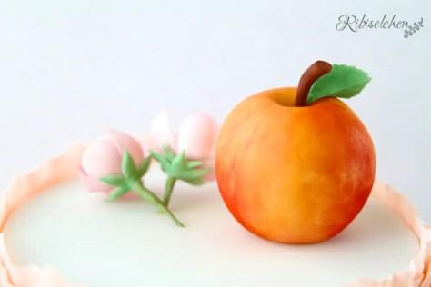 Pfirsichblüten + Pfirsich aus Zucker