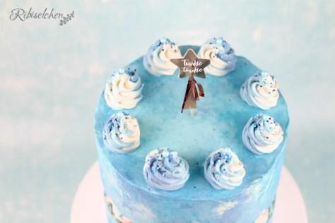 Babyparty Torte blau