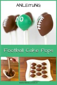 Anleitung für einfache Football Cake Pops! Ideal für eine Football Party oder eine Geburtstagstagsparty eines Football-Fans!