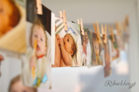 Fotogirlande für Kindergeburtstag zu Hause