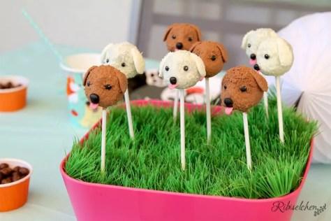 Hunde Cake Pops bei der Hundeparty